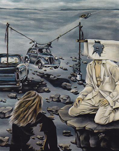 dominique hoffer, LE SILENCE DE L'IGUANE, Fantasy, Contemporary Art, Abstract Expressionism