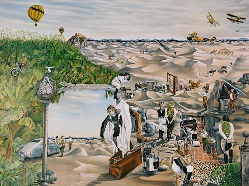 dominique hoffer, LA CROISIERE JAUNE, Fantasy, Contemporary Art, Abstract Expressionism