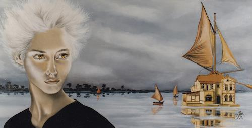 dominique hoffer, LA SORCIERE DES GALAPAGOS, Fantasy, Abstract Art, Expressionism