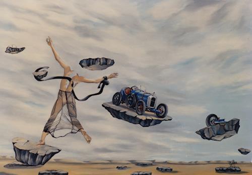 dominique hoffer, LA DEBRIDEE CARROSSABLE, Fantasy, Contemporary Art, Abstract Expressionism