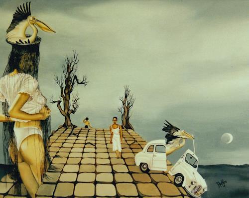 dominique hoffer, LE SUREAU ET LA CIGUE, Fantasy, Contemporary Art, Abstract Expressionism