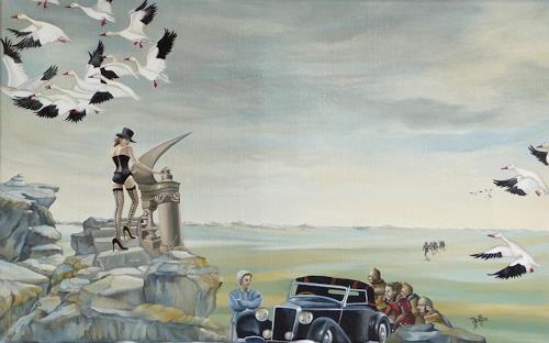 dominique hoffer, EN SOUVENIR DE MELUSINE, Fantasy, Contemporary Art