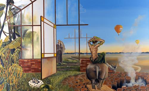 dominique hoffer, Au Portail des Mondes, Fantasy, Contemporary Art