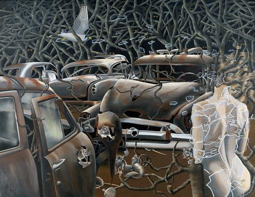 dominique hoffer, La Survie des Ombres, Fantasy, Contemporary Art, Abstract Expressionism