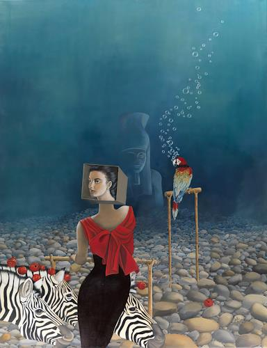 dominique hoffer, Au Vivier des Illusions Versatiles, Fantasy, Post-Surrealism, Abstract Expressionism