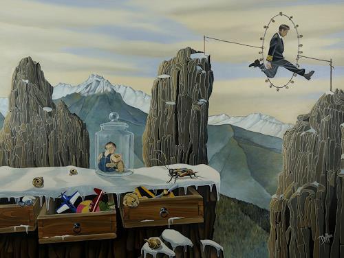 dominique hoffer, Les Cliquetis du Hasard, Fantasy, Contemporary Art, Abstract Expressionism