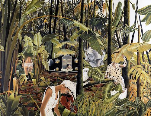 dominique hoffer, La Fabuleuse Insomnie des Manguiers à Plumes, Fairy tales, Contemporary Art, Abstract Expressionism