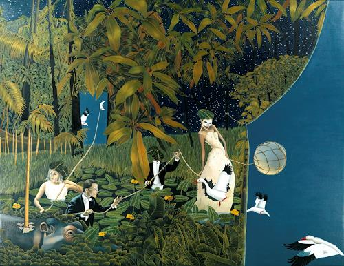 dominique hoffer, Les délices inopinés du futur antérieur, Fantasy, Contemporary Art, Expressionism