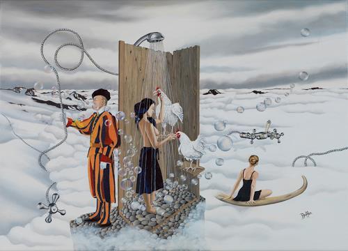 dominique hoffer, Le Souffle Enchanté des Libertés Vagabondes, Fantasy, Post-Surrealism, Abstract Expressionism