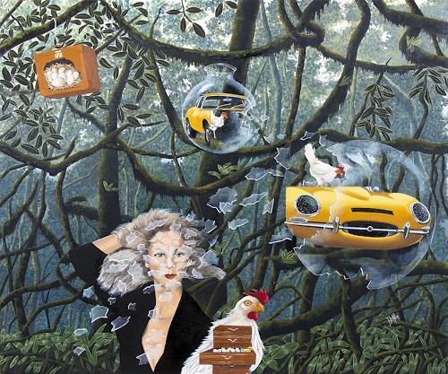 dominique hoffer, Les Stridulations Déjantées des Petits Soleils Chahuteurs, Fantasy, Fantasy, Post-Surrealism, Abstract Expressionism