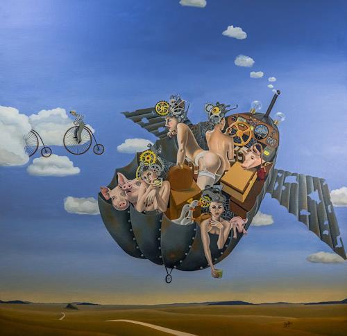 dominique hoffer, A la Recherche du Sycomore Ambulant, Fantasy, Fantasy, Post-Surrealism, Abstract Expressionism