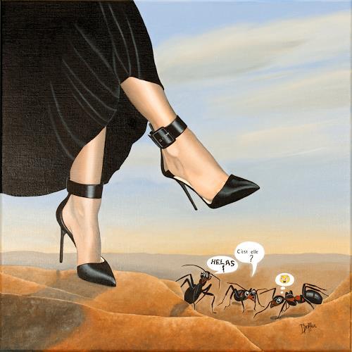 dominique hoffer, Péril Acidulé, Fantasy, Post-Surrealism, Abstract Expressionism