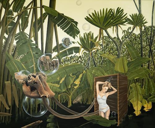 dominique hoffer, Pour que le bruit de leurs pas résonne encore dans nos silences, Fantasy, Post-Surrealism, Abstract Expressionism