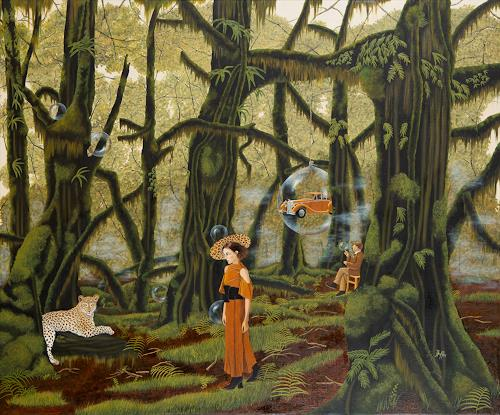 dominique hoffer, L'Effet des pluies dissolues, Fantasy, Post-Surrealism, Abstract Expressionism