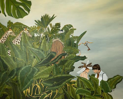 dominique hoffer, Le Secret, Fantasy, Post-Surrealism, Abstract Expressionism