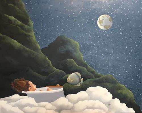 dominique hoffer, Le rêve d'Archimède, Fantasy, Contemporary Art, Expressionism