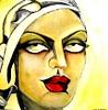 Luana Sacchetti, Persian beauty with yellow headscarf