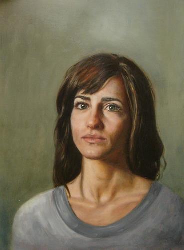Alexandra Laske, altmeisterliches Portrait, People: Women, Society, Naturalism, Modern Age