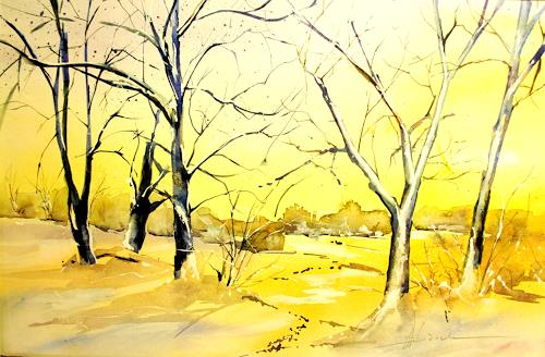 webo, Neujahrsfrieden, Landscapes: Winter, Nature: Miscellaneous, Expressionism