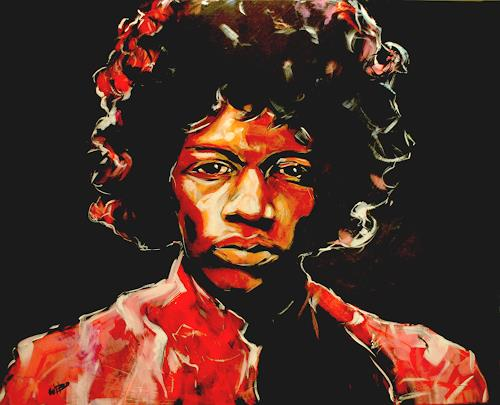 webo, jimi hendrix, People: Faces, Music: Musicians, Expressionism