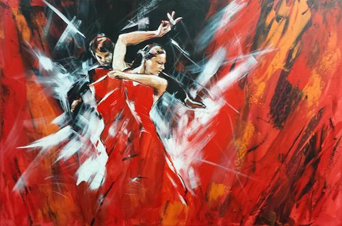 webo, Flamenco, People: Couples, Movement, Expressionism