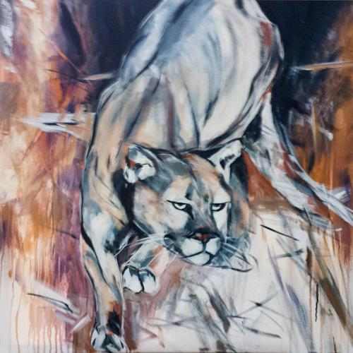 webo, Puma, Animals: Land, Abstract Expressionism