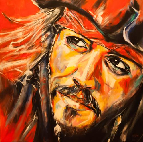 webo, Johnny Depp, People: Portraits, Miscellaneous People, Expressive Realism, Expressionism