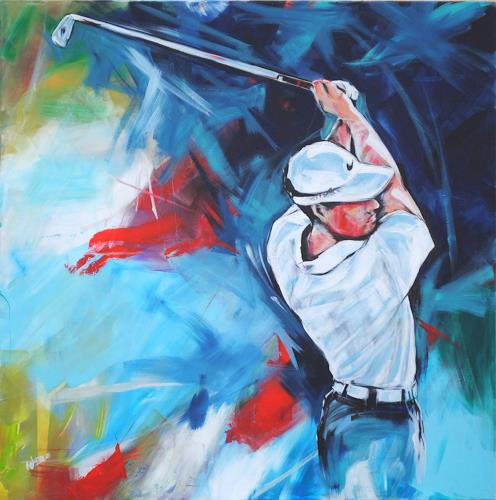 webo, Golf 2016, People, Sports, Expressionism