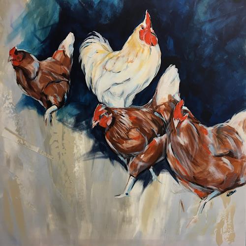 webo, Hühnerhaufen, Animals: Land, Animals, Abstract Art