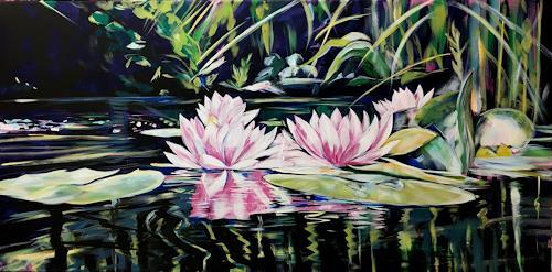 webo, Seerosen, Plants, Plants: Flowers, Abstract Art