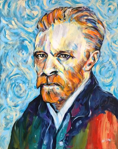 webo, van Gogh, People: Portraits, People: Faces, Abstract Art