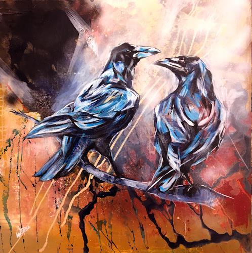 webo, die beiden Raben, Animals, Animals: Air, Expressive Realism, Expressionism