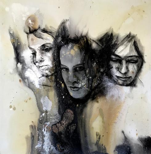 webo, 3 Frauen, People: Women, People: Group, Contemporary Art