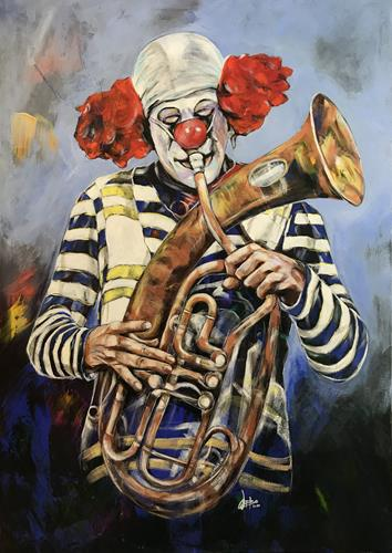 webo, Ha Ha Said The Clown, Circus, Humor, Abstract Art