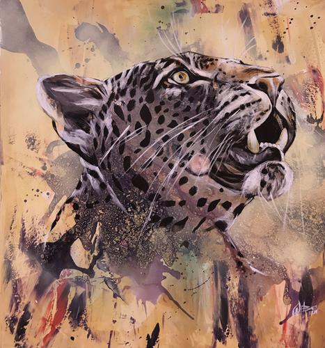 webo, Leopard, Animals, Animals: Land, Abstract Art, Expressionism