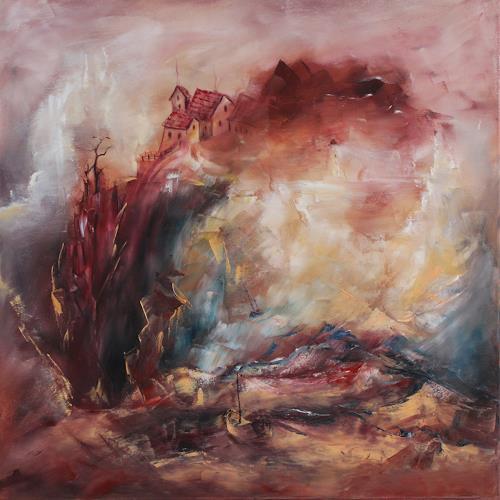 Heidrun von Haacke, Strand der Vergangenheiten, Nature: Miscellaneous, Society, Impressionism