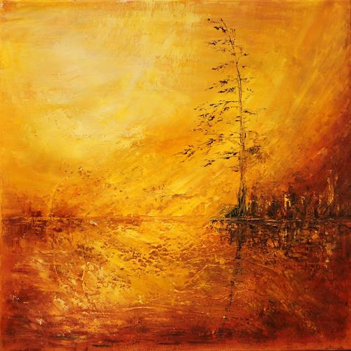 Heidrun von Haacke, Hitzewelle, Nature: Miscellaneous, Impressionism, Abstract Expressionism