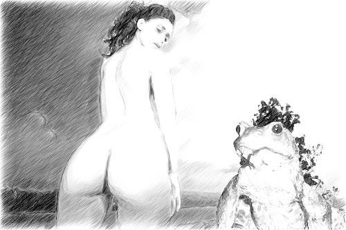 Klaus Ackerer, N/T, Erotic motifs: Female nudes