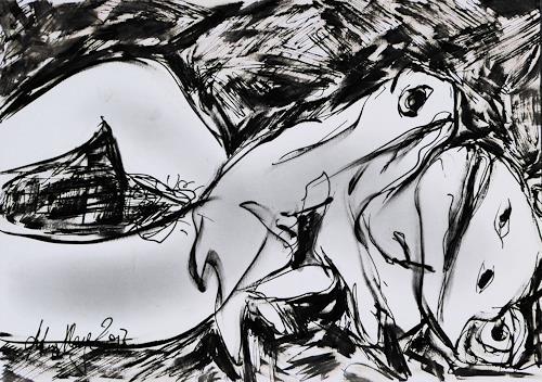 Klaus Ackerer, N/T, Nude/Erotic motifs, Abstract Art