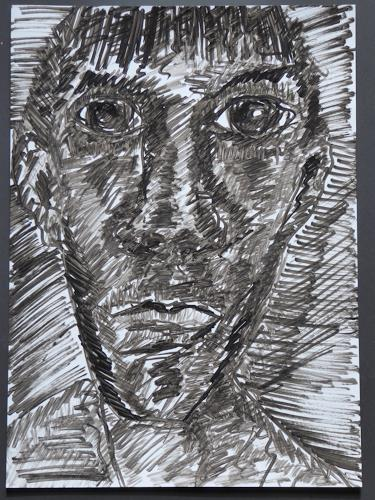 Klaus Ackerer, N/T, People: Faces, Abstract Art