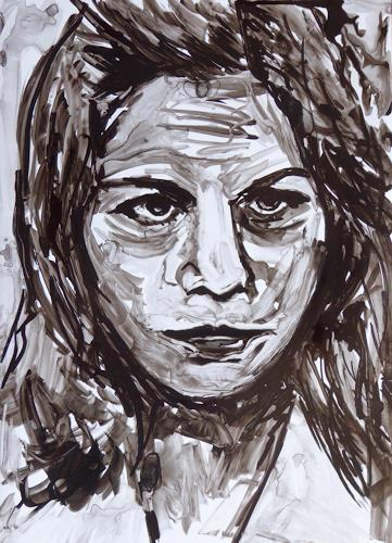 Klaus Ackerer, Nora, People: Portraits, Abstract Art