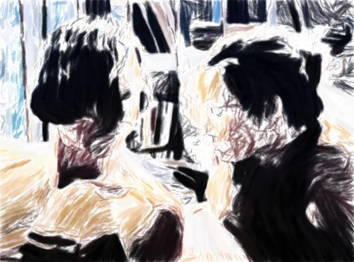 Klaus Ackerer, sisterlove, Abstract art, Abstract Art