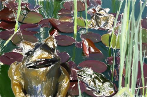 Klaus Ackerer, Wir überleben, Fantasy, Abstract Art