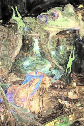 Klaus Ackerer, frog badgastein, Landscapes, Abstract Art