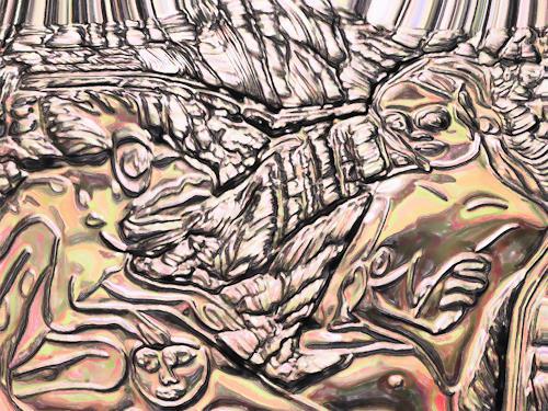 Klaus Ackerer, Eifersucht, People, Abstract Art