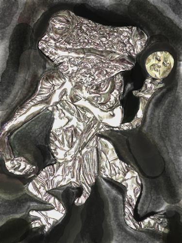 Klaus Ackerer, dancing in the dark, Fantasy, Abstract Art