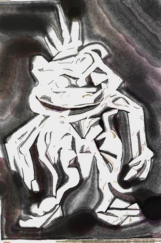 Klaus Ackerer, the white frog, Fantasy, Abstract Art