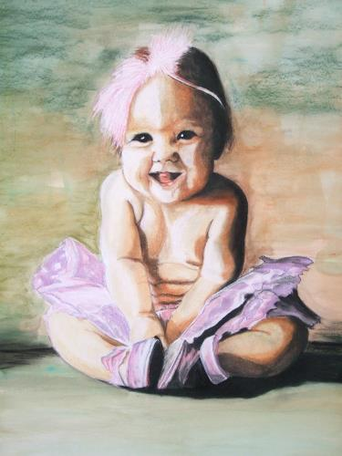 LUR-art/ Therese Lurvink, Little Ballerina, People: Children, Miscellaneous Romantic motifs