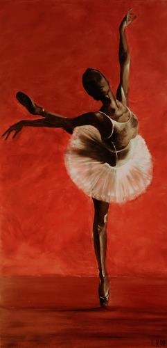 LUR-art/ Therese Lurvink, Ballet II, Movement, People: Women, Expressionism