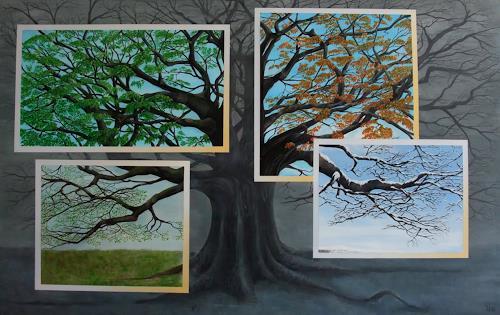 LUR-art/ Therese Lurvink, Jahreszeiten-Baum, Nature: Miscellaneous